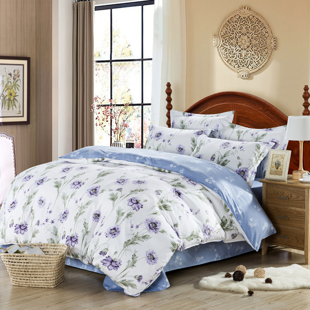 Floral comforters and quilts girls bed sheets white bed linen purple floral comforters and quilts girls bed sheets white bed linen purple flowers comforter sets luxury parure mightylinksfo