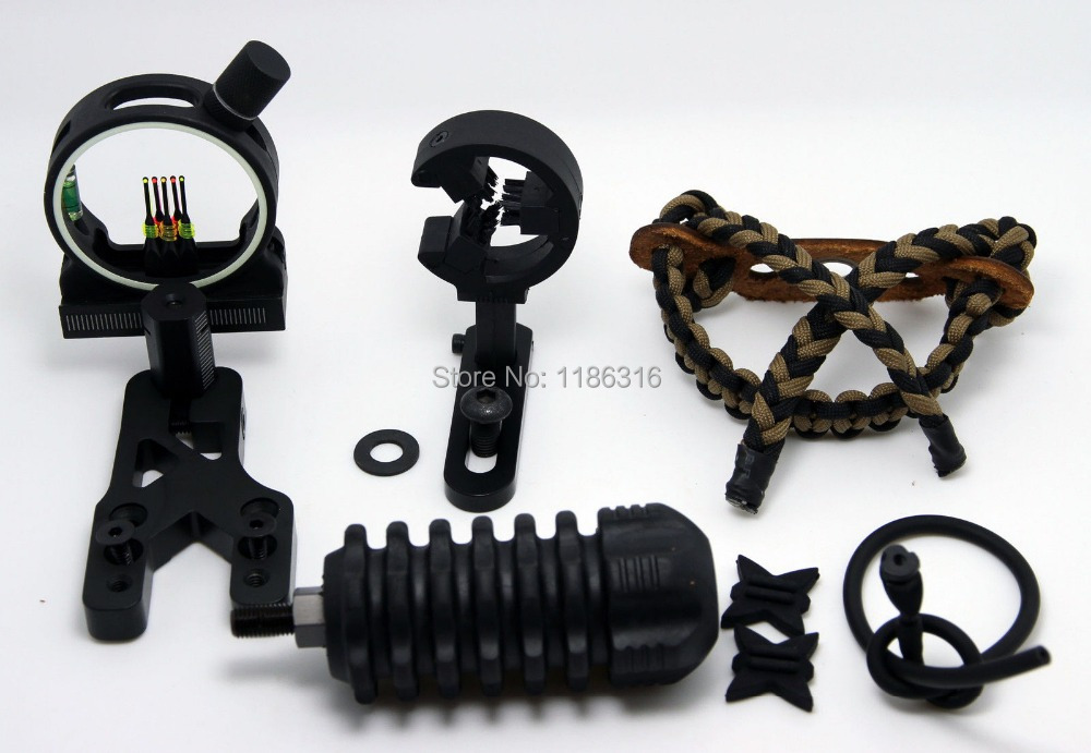 ФОТО UPGRADE KIT COMPOUND BOW - STABILIZER OPTIC SIGHT ARROW REST Peep archery sights-Free Shipping