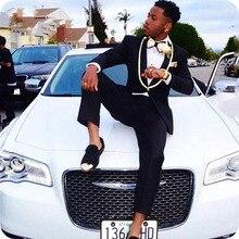 Latest Designs Black Mens Suits Wedding Plus Size Man Tuxedos Bridegroom Suit Shawl Lapel Smoking Masculino Costume Homme 2Piece