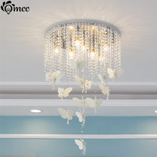 White Angel 8 12 bulbs Art deco Pendant Light Crystal Lamp LED E14 Modern Lighting For Bedroom Dining Angel Hanging Resin Lights(China)