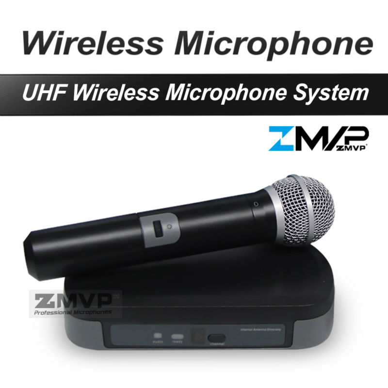Free Shipping UHF Professional P24 58 Wireless Microphone Cordless Karaoke System With Handheld Transmitter Mic Band 740-752Mhz free shipping derrica u 1188 professional uhf wireless microphone karaoke system with u 188 handheld transmitter microfone mic page 9