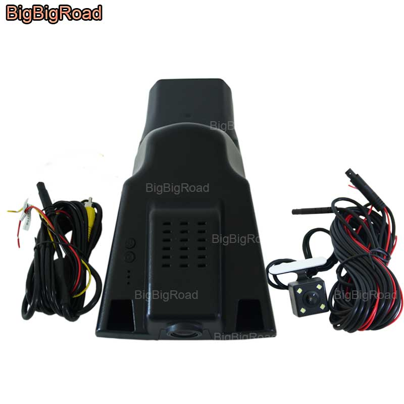 BigBigRoad For Ford everest 2015 / Explorer 2016 / lincoln MKZ MKX MKC 2015 Car Video Recorder Wifi DVR Dash Cam Dual Cameras bigbigroad for ford mondeo 2015 high configuration car wifi dvr video recorder dash cam car black box keep car original style