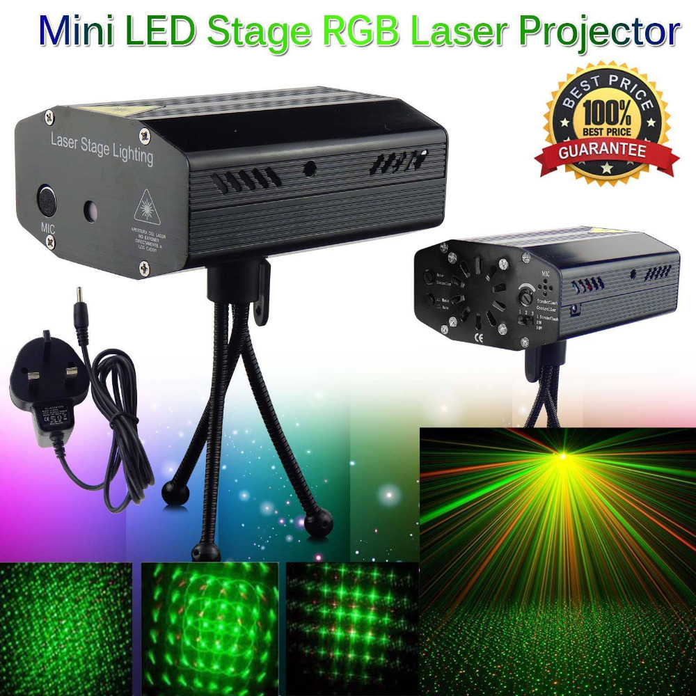 LED Laser Projector Christmas Decorations Laser Disco Light Laser Light Dj Voice activated DJ Disco Xmas