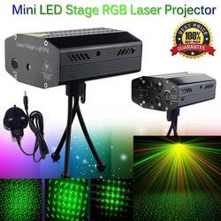 LED Laser Projector Christmas Decorations Laser Disco Light Laser Light Dj Voice-activated DJ Disco Xmas Party Club Light Mini