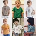2017 Verão Novo Bobo Choses Roupa Dos Miúdos Das Crianças Crianças Do Bebê Do Algodão T-shirt Tops de Tee Meninos Meninas T Shirt Roupas