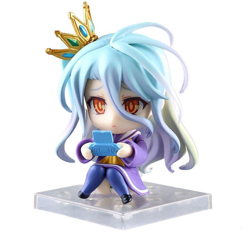 NO GAME NO LIFE Nendoroid Shiro 653# Sora 652# PVC Action Figure Collectible Model Toy 10cm KT3726