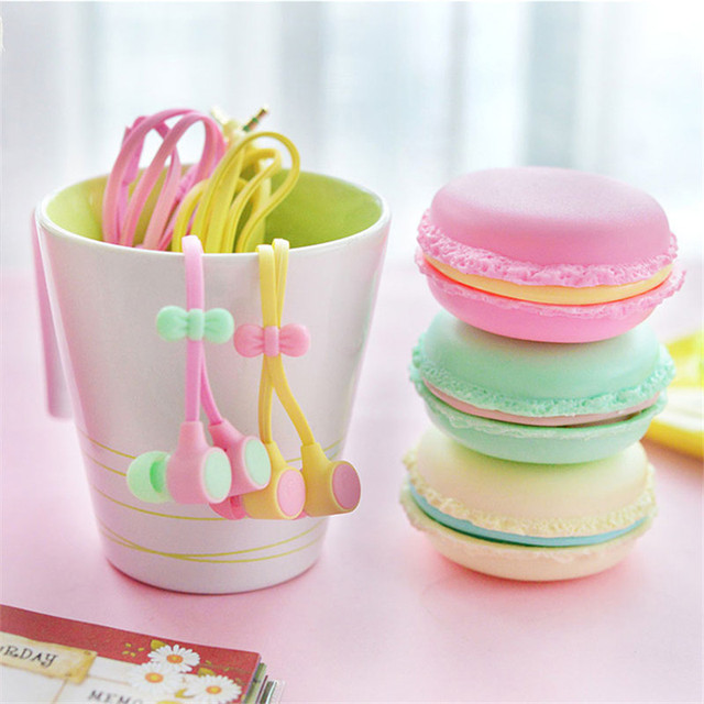 TTLIFE New Macarons Design In-Ear Earphone For Xiaomi Samsung Phone Cute Earphone For MP3 Player