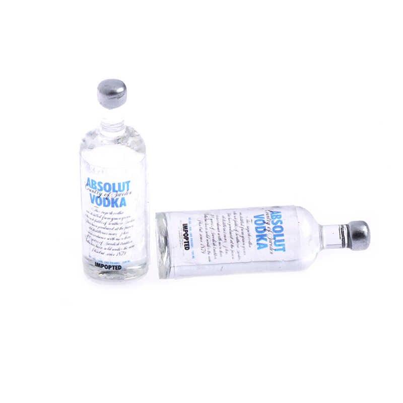 2 шт. 1:12 Масштаб моделирование вина одна бутылка водка BJD кукольный домик Миниатюрная игрушка кукла еда кухня гостиная аксессуары