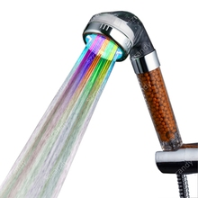 Water Saving LED Anion Shower Head Contemporary Multi color Grohe Chuveiro Ducha Quadrado
