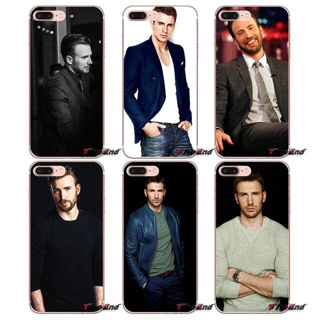 Para Samsung Galaxy S3 S4 S5 MINI borda S6 S7 S8 Mais Nota 2 3 4 5 Grande Núcleo Prime Sexy Homem Chris Evans Capitão América caso