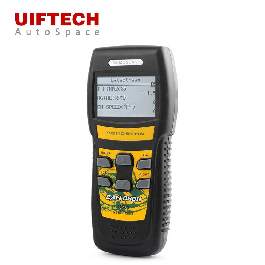 Цена за Новый Memoscan U581 OBDii Автомобильный диагностический сканер инструмент может obd 2 II EOBD Авто кодов сканирования OBD2 сканер PK Foxwell