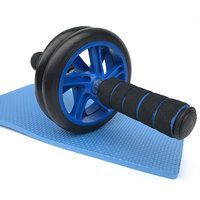 Pro Abdominal ABS Wheel Ab Roller No Noise With Mat Exercise Fitness Equipment Crossfit Accessories Gym Workout Muscle Trainer