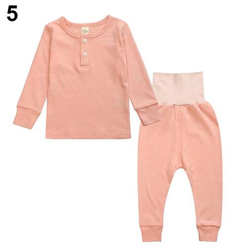 Unisex Cotton Leisure Wear Home Loungewear Top + Pants Clothes Set