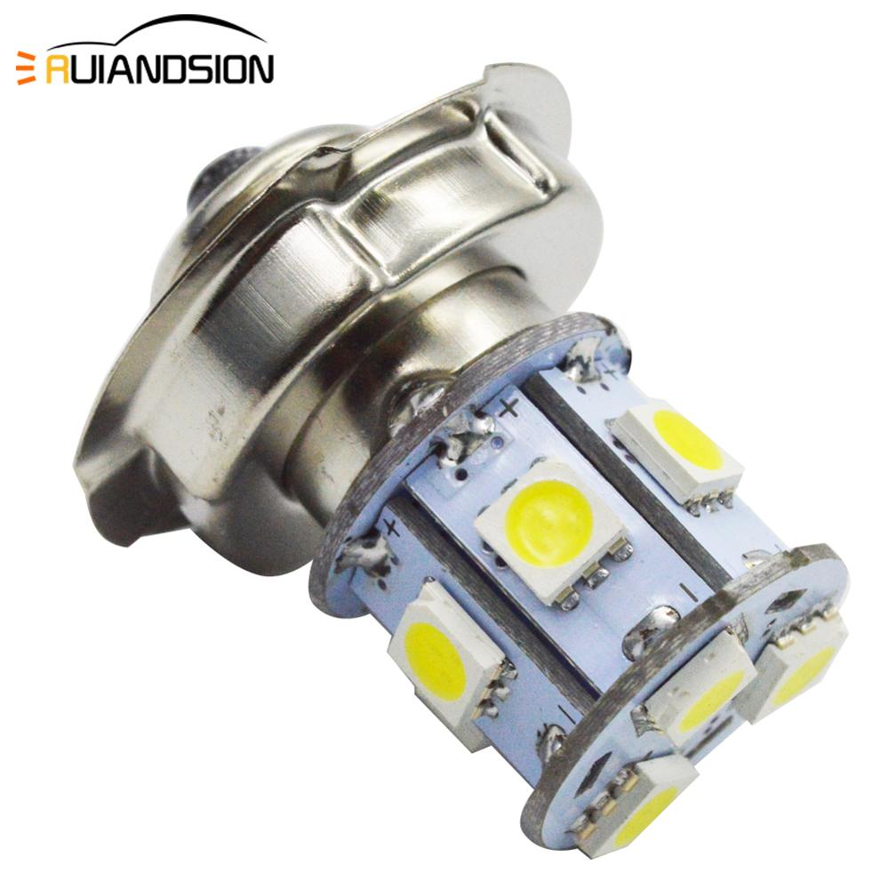 1x Motorcycle Headlight P26S Led Bulb 10-80V Motorbike Light 3W Super White 6000K Moped Scooter Outdoor Lighting High-Low Lights