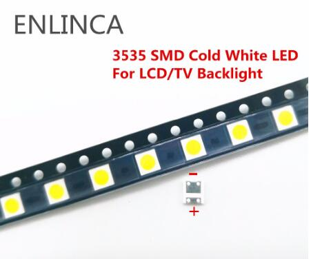 50-200pcs FOR LCD TV repair <font><b>LG</b></font> <font><b>led</b></font> TV backlight strip lights with light-emitting diode 3535 <font><b>SMD</b></font> <font><b>LED</b></font> beads 6V 2W cool cold white image