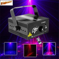 3 Lens 18 Patterns RB Led Laser Stage Lighting Effect Laser Projector Party Club Bar DJ Disco Home Show Professional Light