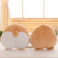 Funny Cute Corgi butt pillow plush toy Creative car pillow queen doggy ass stuffed warm soft animal kids pet puppy birthday gift