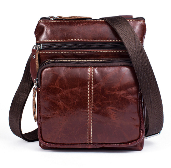 Home Vertical Section Genuine Leather Bag Top Quality First Layer Cowhide Casual Shoulder Bags Designer Handbags High Quality Bags
