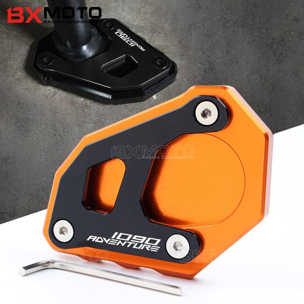 For KTM 1290 1090 1190 Adv orange accessories Motorcycle CNC Aluminum Side Stand Enlarge For KTM 1050 1090 1190 1290 Adventure