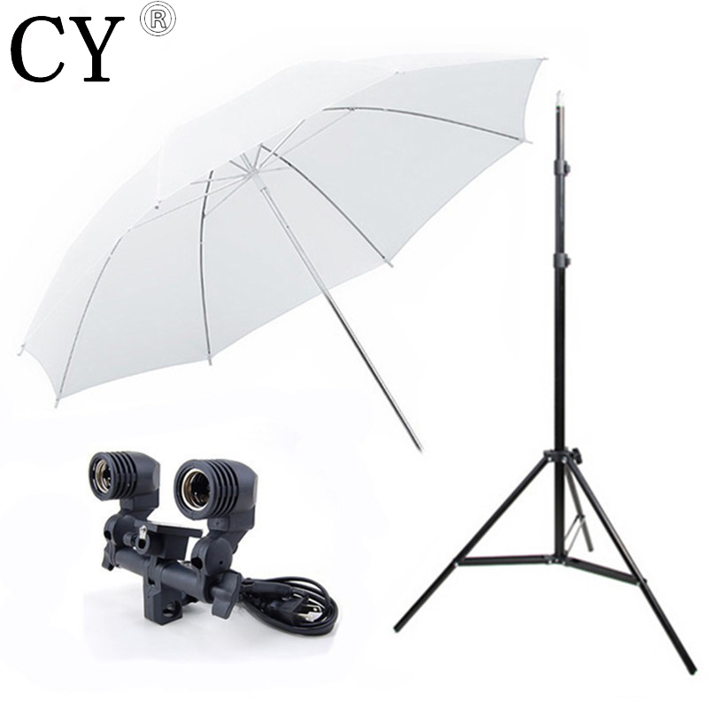 110V Photography Lighting Kit Photo Equipment Stand Kit With Studio Umbrella Twin Holder Studio Lighting Kits PSK1B-US