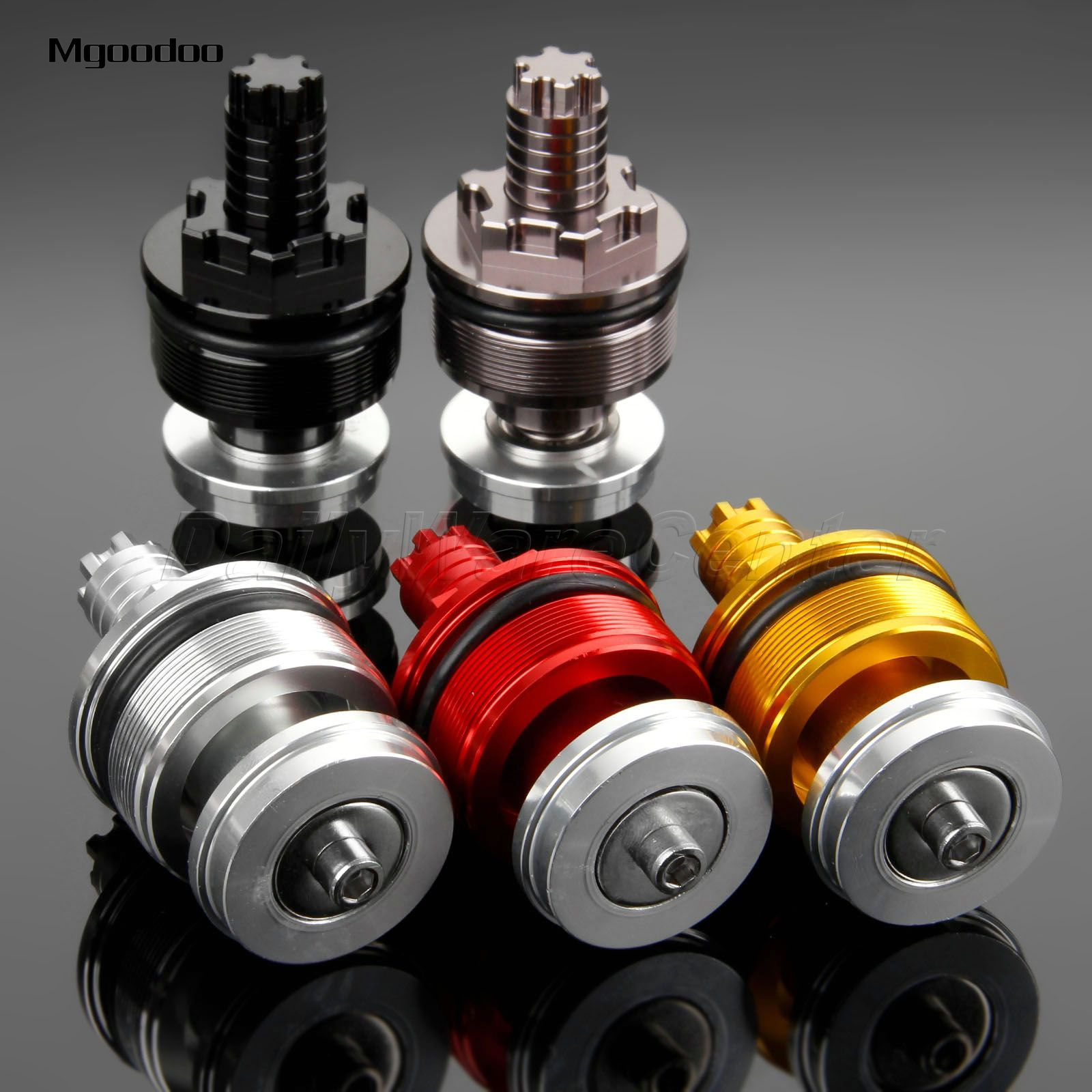 New 2Pc 41MM Motorcycle Preload Adjusters Fork Bolts Cap CNC Aluminum For Yamaha YZF R3 2015 2016 YZF R25 2013 2014 High Quality