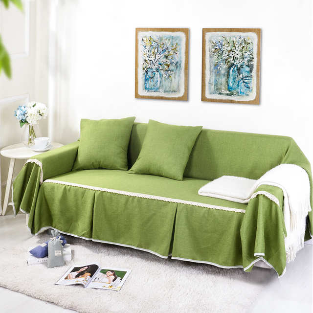 Sunnyrain Solid Sofa Cover Sectional Sofa Covers L Shaped Sofa Cover
