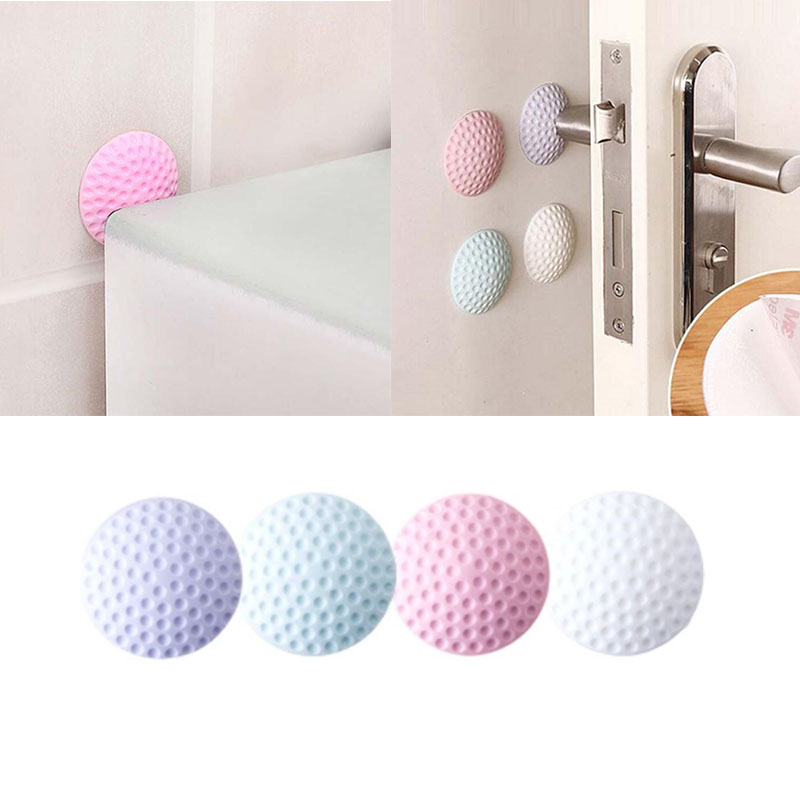 2018 New Hight Recommond Rubber+Strong Gel Love Home Door Doorknob Back Wall Protector Savor Shockproof Crash Pad  8