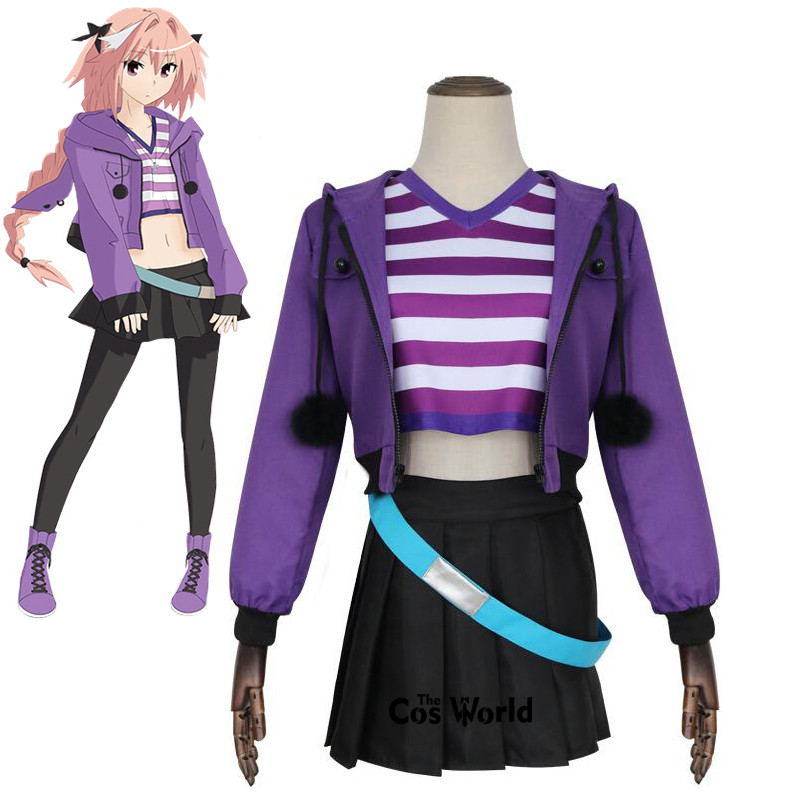 Fate//Grand Order Apocrypha FA Rider Astolfo Daily Casual Dress Costume Cosplay