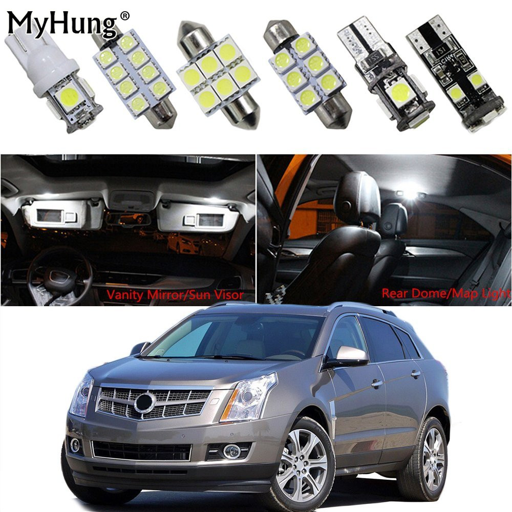 For cadillac srx ats cts car led headlight bulb replacement bulbs dome map lamp vanity mirror