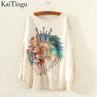 KaiTingu 2015 New Fashion Autumn Winter Clothing Women Sweater And Pullover Long Batwing Sleeve Jumper Knitwear