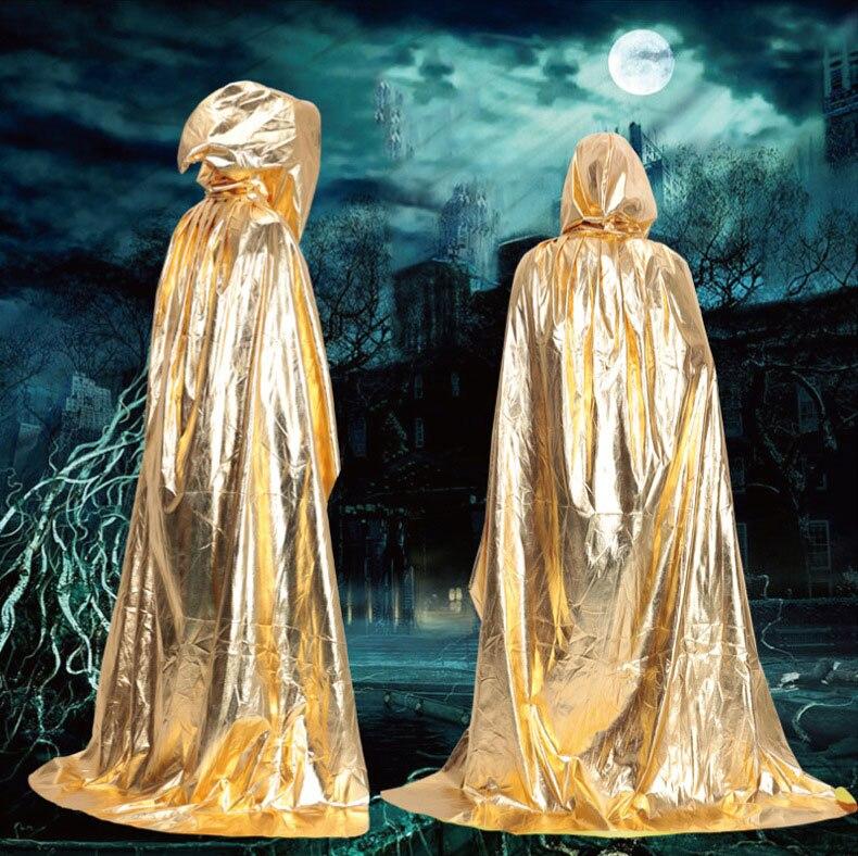 Adulto Capa Con Capucha Muerte Con Capucha Capa Gótica Wicca Robe Medieval Brujería Larp de Halloween
