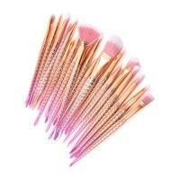 Professional 20Pcs Sets Rose Gold Mermaid Brush Eye Shadow Foundation Eyebrow Brush Makeup Brushes Fishtail Brush