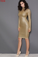 New Middle - aged Women Sexy Dress Gold Senior Sequin Dress Spring and Summer Simple Brief Dress