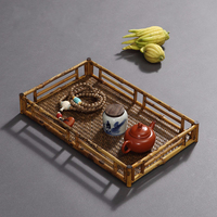 Bamboo Tea Trays saucer Kung Fu Puer Accessories Table Food Dessert Traditional Chinese Style Creative Container home decoration