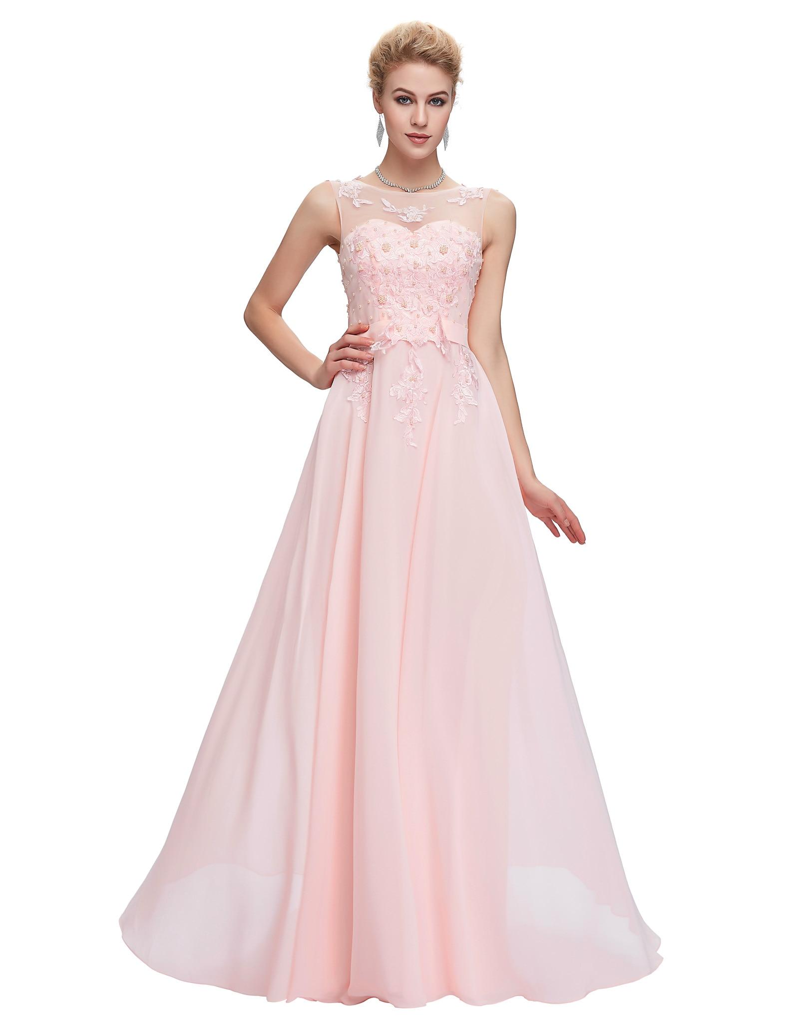 Grace Karin Light Pink Bridesmaid Dresses 2017 Blue Red Black White
