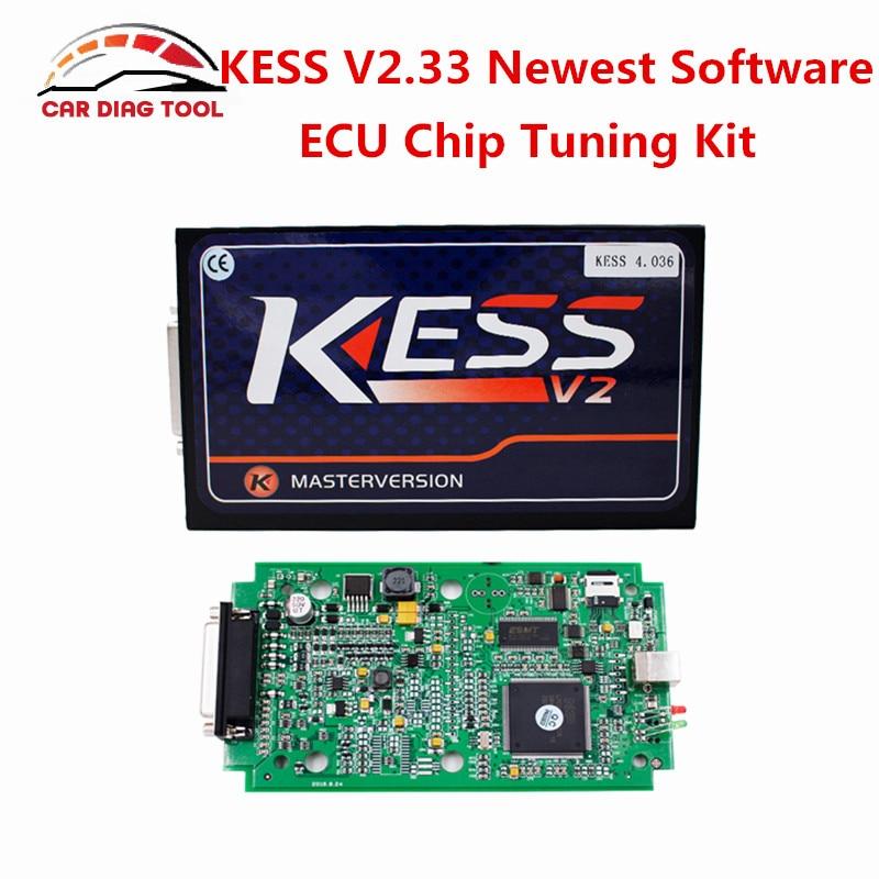 Цена за Бесплатная доставка KESS V2 OBD2 менеджер Тюнинг Комплект KESS V2.23 мастер версия KESS V2 Комплектующие V4.036 неограниченное маркеры ЭБУ инструмент