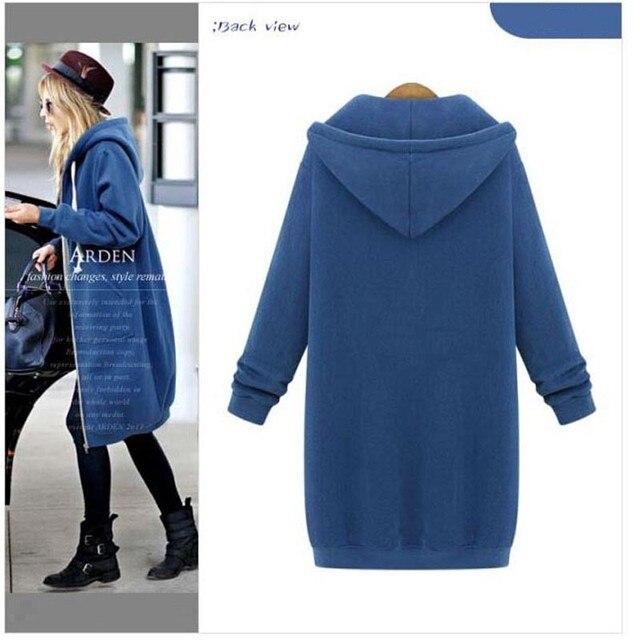 Ladies Long Hoodie Jacket