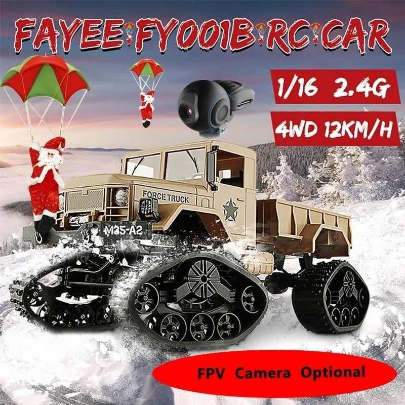 1/16 Truk Militer 2.4GHz 4WD 480P Wifi FPV Kamera 3000G Beban Salju Ban Mobil Off-Road crawler dengan Lampu LED untuk Anak-anak Hadiah