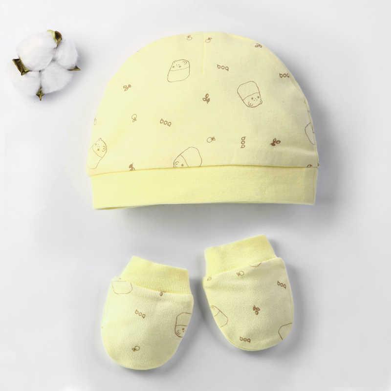 Otoño invierno Bebé sombrero y mitones niña niño gorra calcetines cómodos infantil sombrero y guantes algodón niño recién nacido accesorios para 0-3