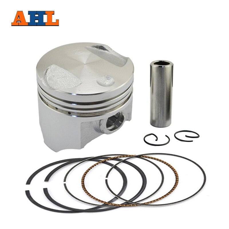 цена на AHL STD +25 +50 Motorcycle Engine Parts Piston & Piston Ring Kit For Honda DIO 50 AF54 55/56/57 AF62 DIO50 Z4 50