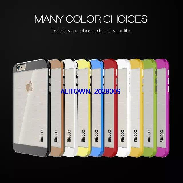 50pcs luxury 6s back cover Slicoo Hybrid ultra thin PC TPU clear case for font b