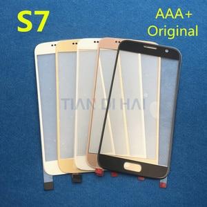 Image 2 - 1 Cái Trước Ngoài Kính Cường Lực Màn Hình Cho Samsung Galaxy S7 G930 G930F S6 G920 G920F Màn Hình Cảm Ứng Bảng Điều Khiển Thay Thế