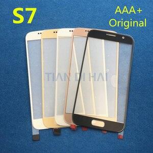 Image 2 - 1 sztuk przedni zewnętrzny szklany obiektyw ekran do Samsung Galaxy S7 G930 G930F S6 G920 G920F panel dotykowy wymiana