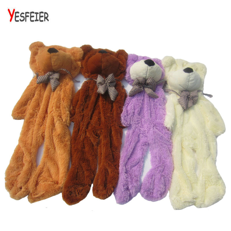 On Sale New Arrive 1pcs 80cm-230cm 5 colors teddy bear skin coat plush toys stuffed toy birthday gifts Christmas gifts