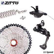 Ztto 1x11 groupset de 11 velocidades, alavanca de câmbio, desviador traseiro para bicicleta de montanha mtb, 11 velocidades, 1 x cassete 11 kit 46t 42t 40t 11 s