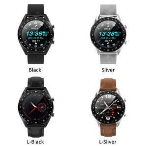 Image 2 - Microwear L7 スマートウォッチフィットネスブレスレットIP68 防水トラッカー腕時計ecg心拍数モニターコールリマインダスマートウォッチの男性