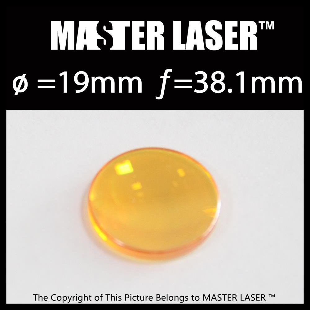 Durable Focus Lens Diameter 19mm Focal Length 38.1mm for Laser Wood Engraving Machine Laser Lens 19 dia40mm focal length 150mm 2 pieces combined yag cutting machine laser focus lens