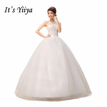 Free Shipping Strapless Sequins Simple Wedding Dresses Cheap White Bridal Frocks Custom Made Vestidos De Novia MH29