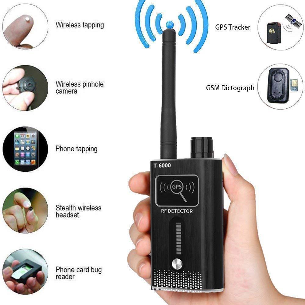 Nuovo Anti-Spy GPS Lens Segnale RF Tracker WIFI GSM Bug Detector T-6000 2g 3g 4g bug detector Rilevatore di Segnale