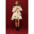 EMIR ROFFER 2016 Alta Qualidade de Impressão Floral das Mulheres Para Baixo Parka Casaco Saia Princesa Fora Do Ombro Feminino Casacos Roupas de Inverno